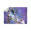 "Ancello ""Abstract Horse"" Purple Blue Sherpa Blanket - KESS InHouse  - 1"