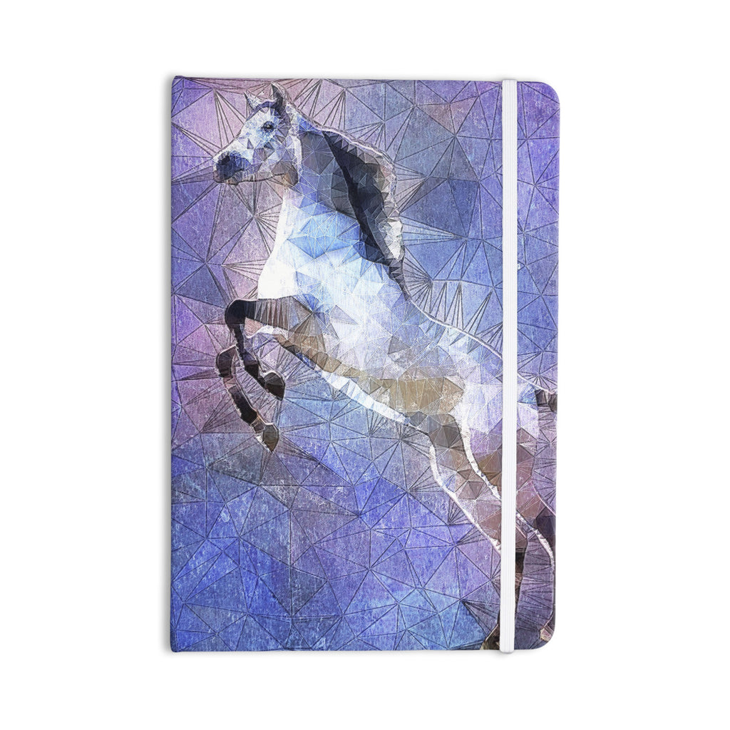 "Ancello ""Abstract Horse"" Purple Blue Everything Notebook - KESS InHouse  - 1"