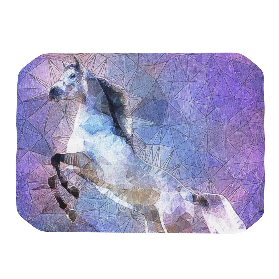 "Ancello ""Abstract Horse"" Purple Blue Place Mat - KESS InHouse"