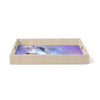 "Ancello ""Abstract Horse"" Purple Blue Birchwood Tray"