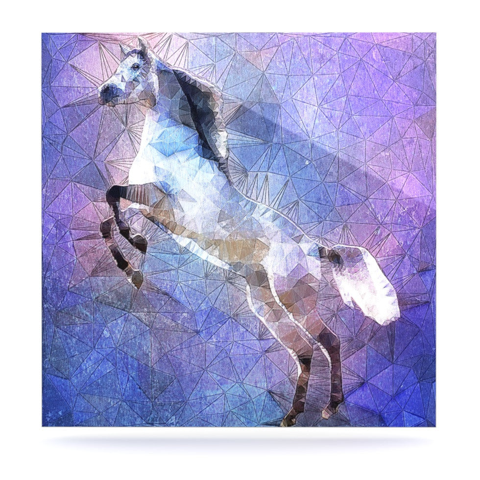 "Ancello ""Abstract Horse"" Purple Blue Luxe Square Panel - KESS InHouse  - 1"