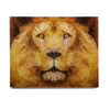 "Ancello ""Lion King"" Yellow Brown Birchwood Wall Art - KESS InHouse  - 1"