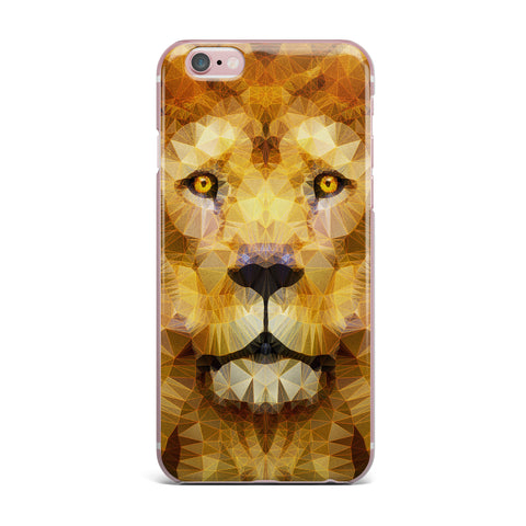 "Ancello ""Lion King"" Yellow Brown iPhone Case - KESS InHouse"