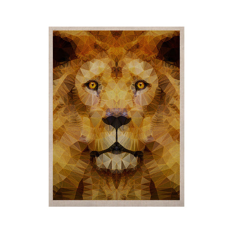 "Ancello ""Lion King"" Yellow Brown KESS Naturals Canvas (Frame not Included) - KESS InHouse  - 1"