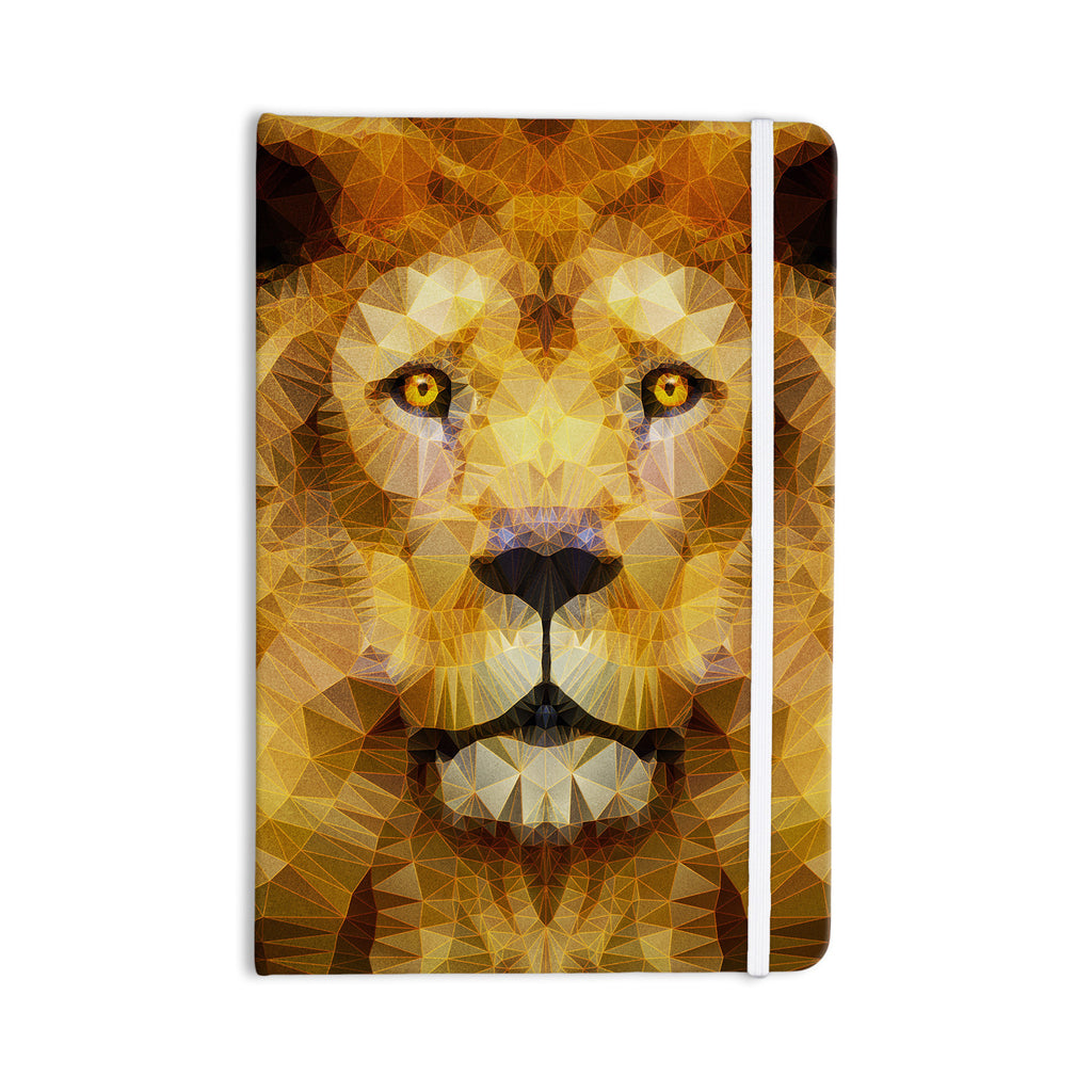"Ancello ""Lion King"" Yellow Brown Everything Notebook - KESS InHouse  - 1"