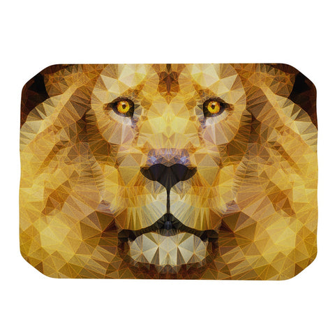 "Ancello ""Lion King"" Yellow Brown Place Mat - KESS InHouse"