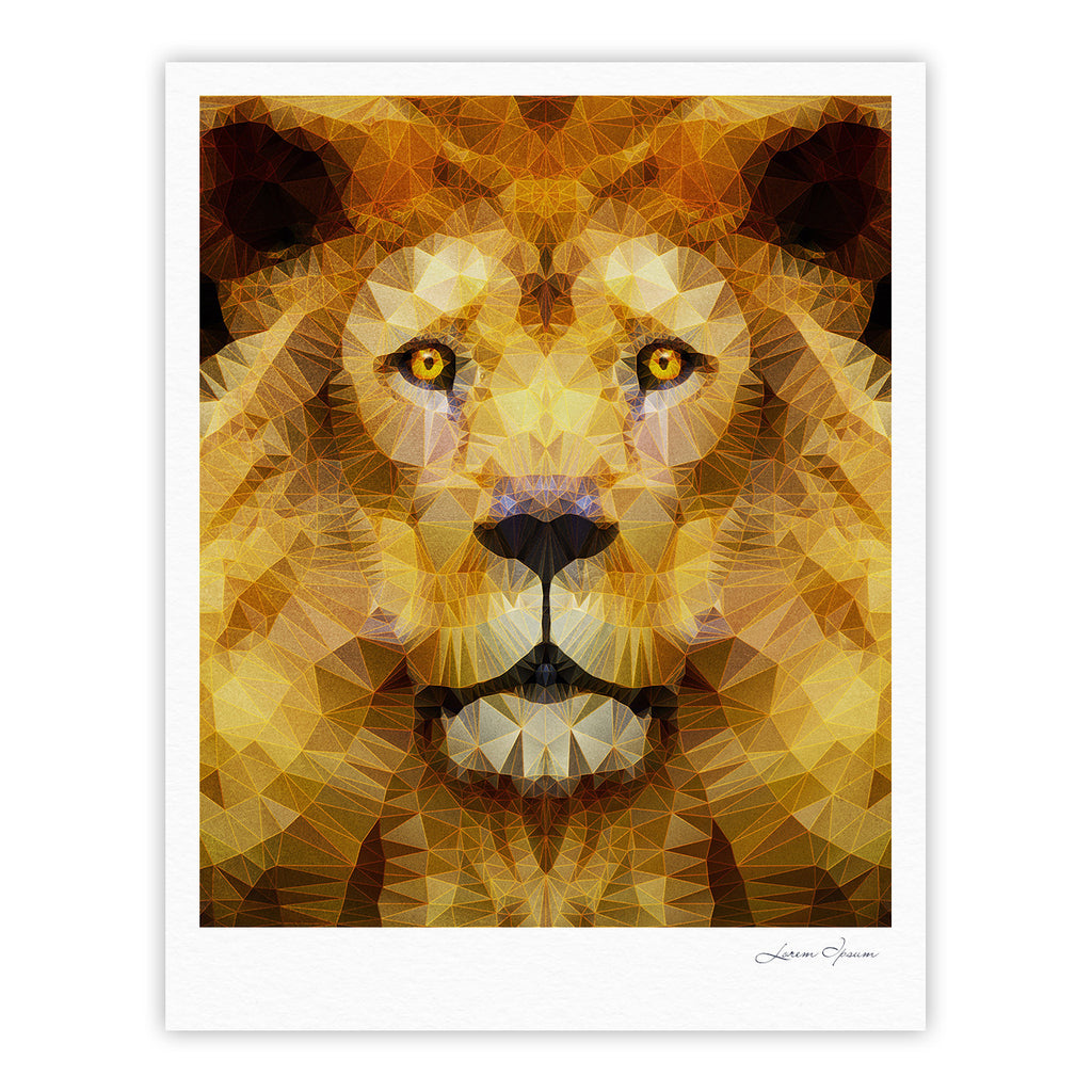 "Ancello ""Lion King"" Yellow Brown Fine Art Gallery Print - KESS InHouse"