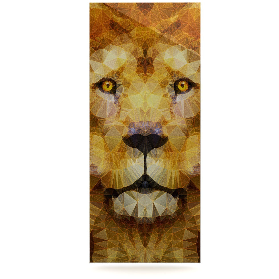 "Ancello ""Lion King"" Yellow Brown Luxe Rectangle Panel - KESS InHouse  - 1"