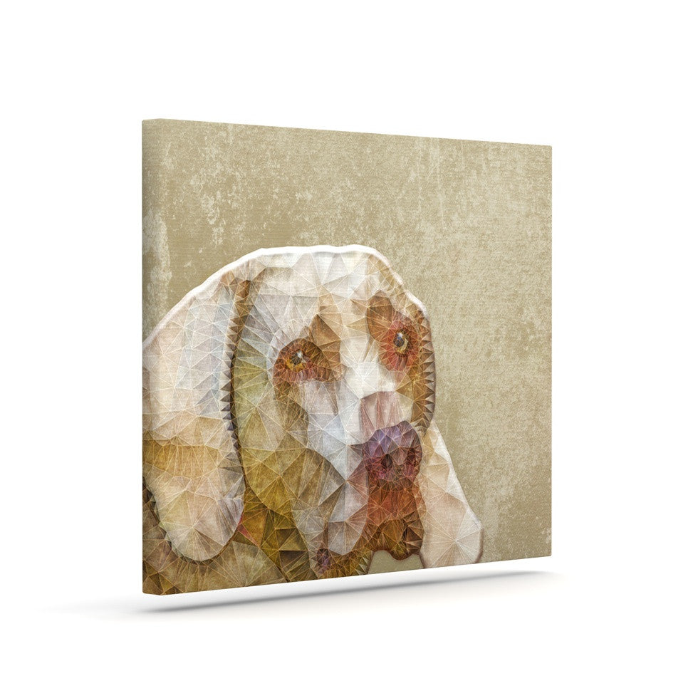 "Ancello ""Abstract Dog"" Brown Geometric Canvas Art - KESS InHouse  - 1"