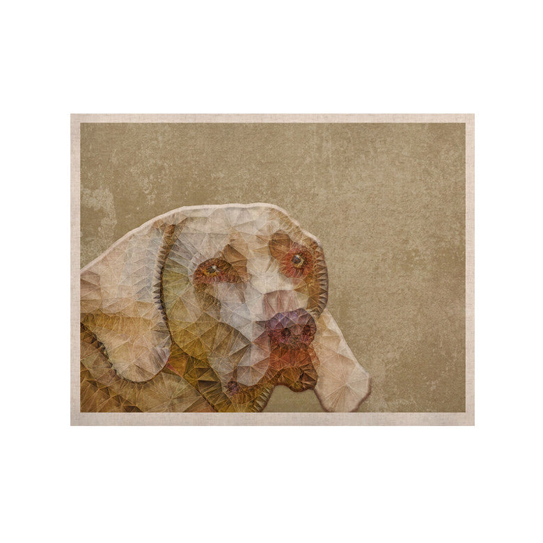 "Ancello ""Abstract Dog"" Brown Geometric KESS Naturals Canvas (Frame not Included) - KESS InHouse  - 1"