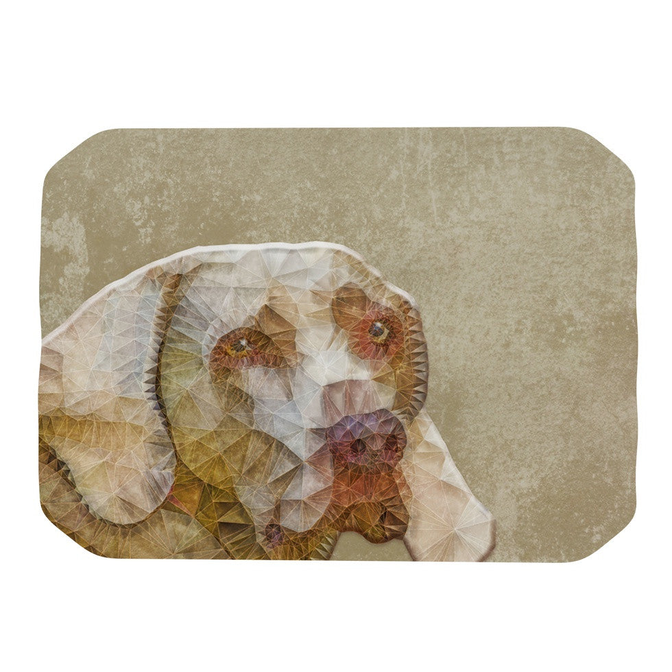 "Ancello ""Abstract Dog"" Brown Geometric Place Mat - KESS InHouse"