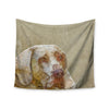 "Ancello ""Abstract Dog"" Brown Geometric Wall Tapestry - KESS InHouse  - 1"