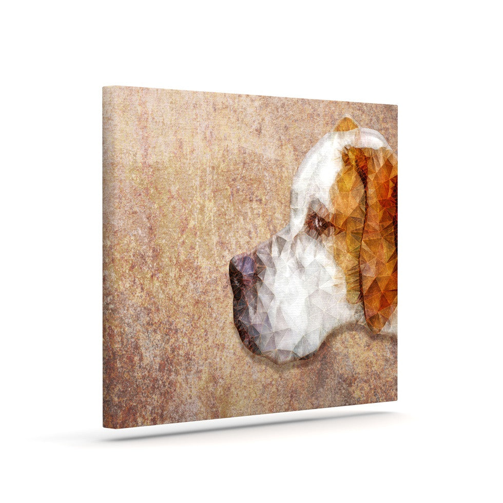 "Ancello ""Abstract Beagle"" Brown Geometric Canvas Art - KESS InHouse  - 1"