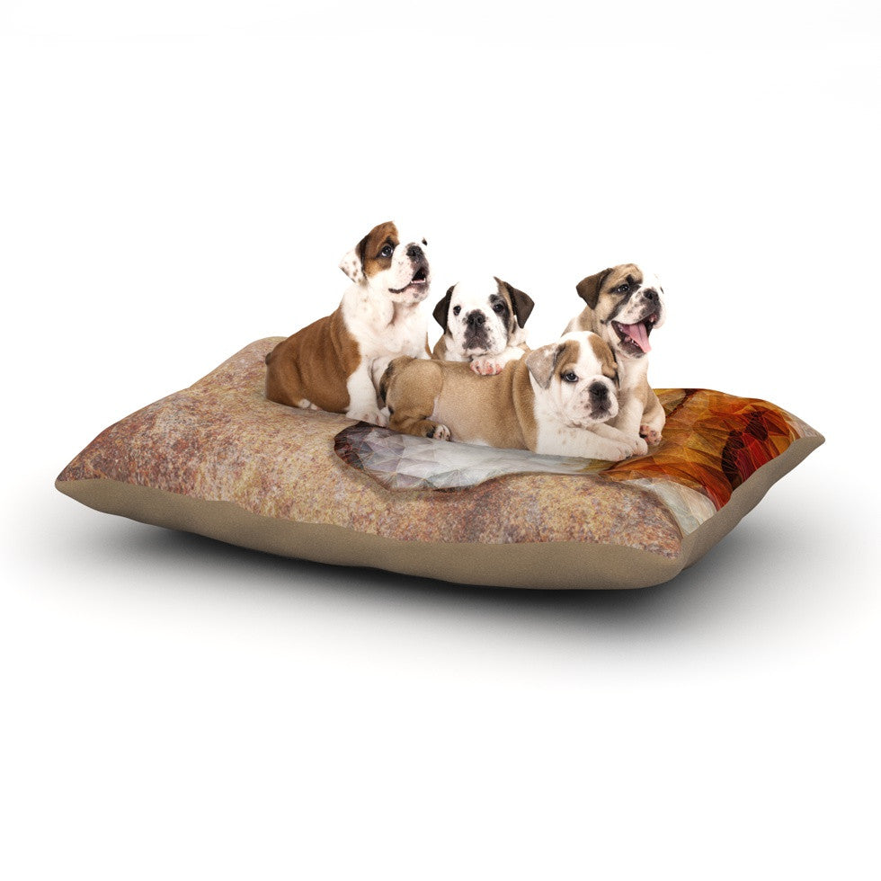 "Ancello ""Abstract Beagle"" Brown Geometric Dog Bed - KESS InHouse  - 1"