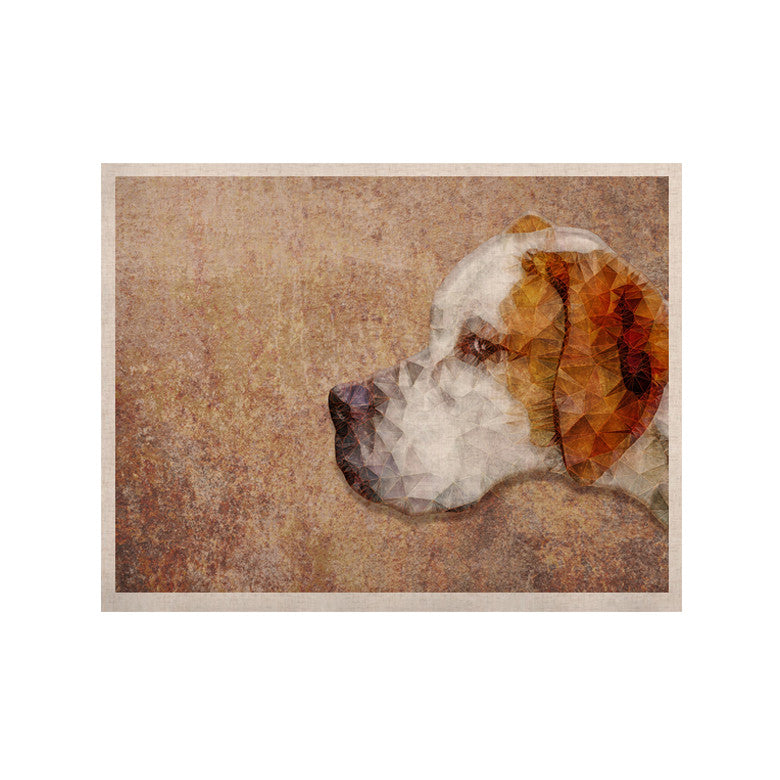 "Ancello ""Abstract Beagle"" Brown Geometric KESS Naturals Canvas (Frame not Included) - KESS InHouse  - 1"
