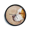 "Ancello ""Abstract Beagle"" Brown Geometric Modern Wall Clock"
