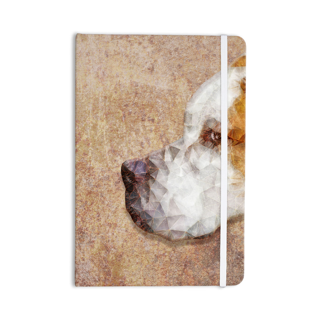 "Ancello ""Abstract Beagle"" Brown Geometric Everything Notebook - KESS InHouse  - 1"