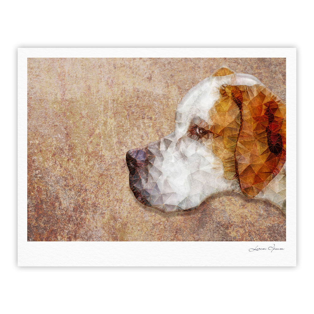"Ancello ""Abstract Beagle"" Brown Geometric Fine Art Gallery Print - KESS InHouse"