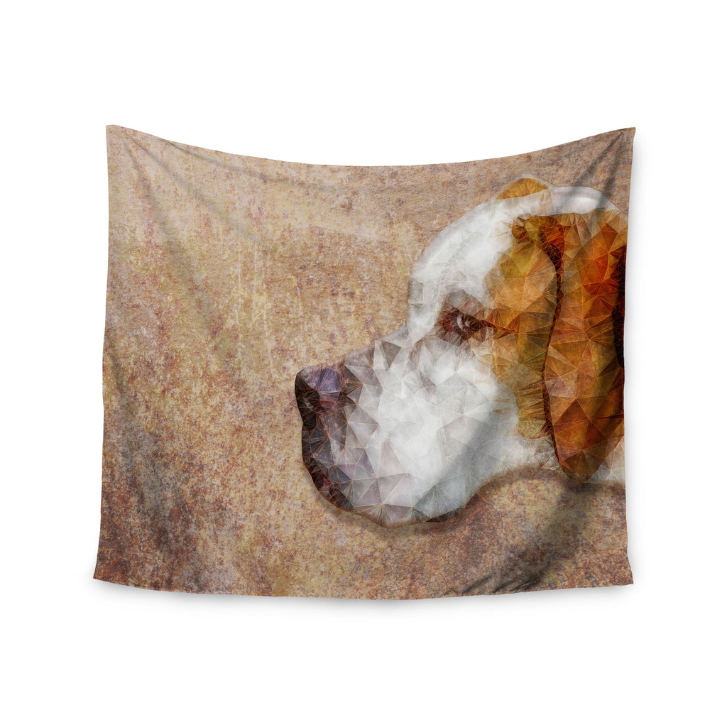 "Ancello ""Abstract Beagle"" Brown Geometric Wall Tapestry - KESS InHouse  - 1"