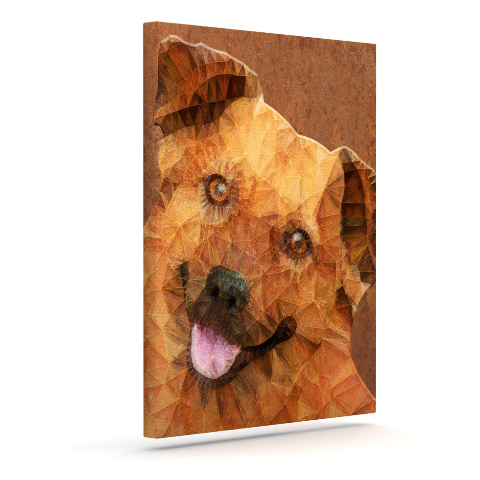"Ancello ""Abstract Puppy"" Brown Geometric Canvas Art - KESS InHouse  - 1"