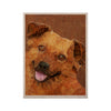 "Ancello ""Abstract Puppy"" Brown Geometric KESS Naturals Canvas (Frame not Included) - KESS InHouse  - 1"