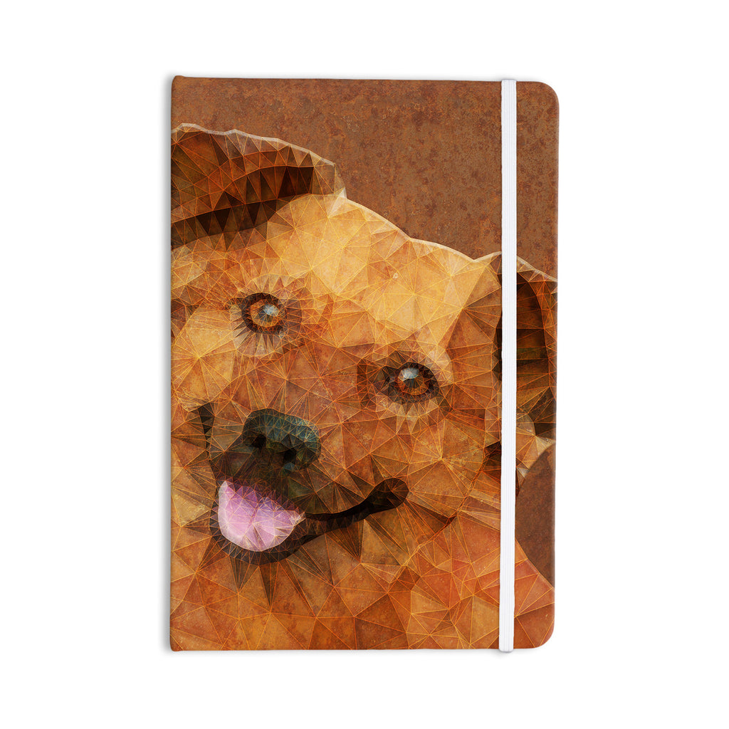 "Ancello ""Abstract Puppy"" Brown Geometric Everything Notebook - KESS InHouse  - 1"