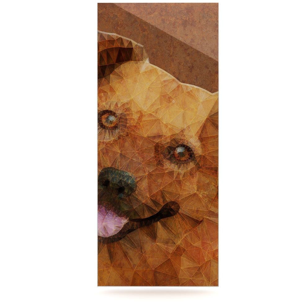 "Ancello ""Abstract Puppy"" Brown Geometric Luxe Rectangle Panel - KESS InHouse  - 1"