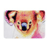 "Ancello ""Cute Koala"" Orange Pink Memory Foam Bath Mat - KESS InHouse"