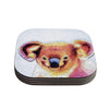 "Ancello ""Cute Koala"" Orange Pink Coasters (Set of 4)"
