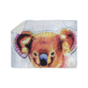 "Ancello ""Cute Koala"" Orange Pink Sherpa Blanket - KESS InHouse  - 1"