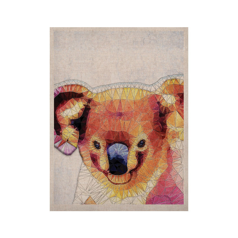 "Ancello ""Cute Koala"" Orange Pink KESS Naturals Canvas (Frame not Included) - KESS InHouse  - 1"