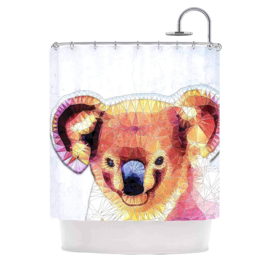 "Ancello ""Cute Koala"" Orange Pink Shower Curtain - KESS InHouse"