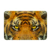"Ancello ""Be Wild"" Orange Geometric Memory Foam Bath Mat - KESS InHouse"
