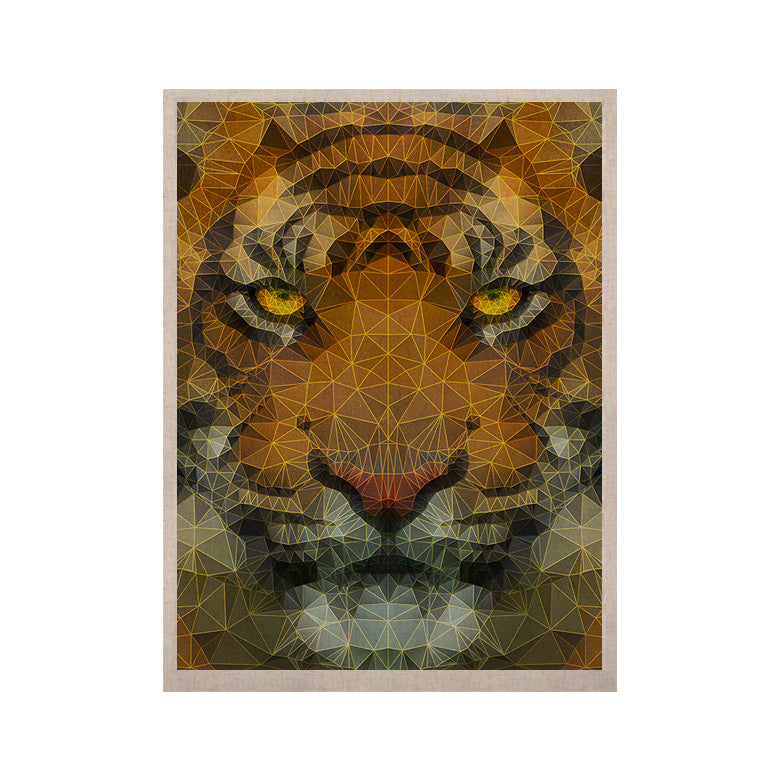 "Ancello ""Be Wild"" Orange Geometric KESS Naturals Canvas (Frame not Included) - KESS InHouse  - 1"