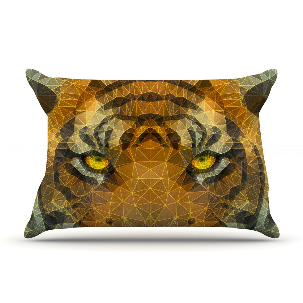"Ancello ""Be Wild"" Orange Geometric Pillow Sham - KESS InHouse  - 1"