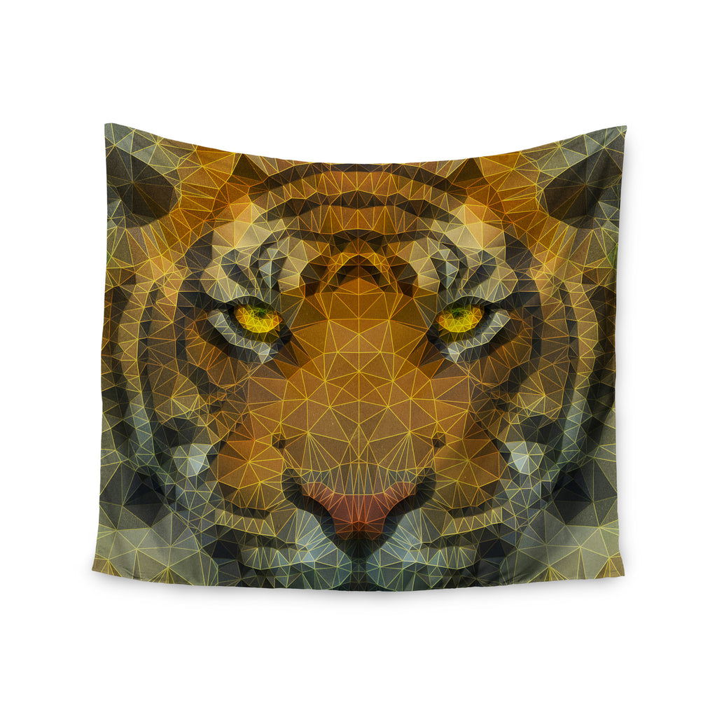 "Ancello ""Be Wild"" Orange Geometric Wall Tapestry - KESS InHouse  - 1"