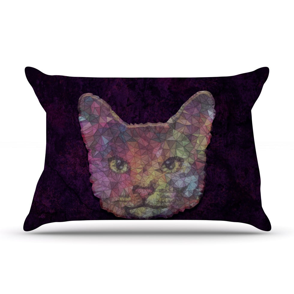 "Ancello ""Rainbow Cat"" Pastel Purple Pillow Sham - KESS InHouse  - 1"