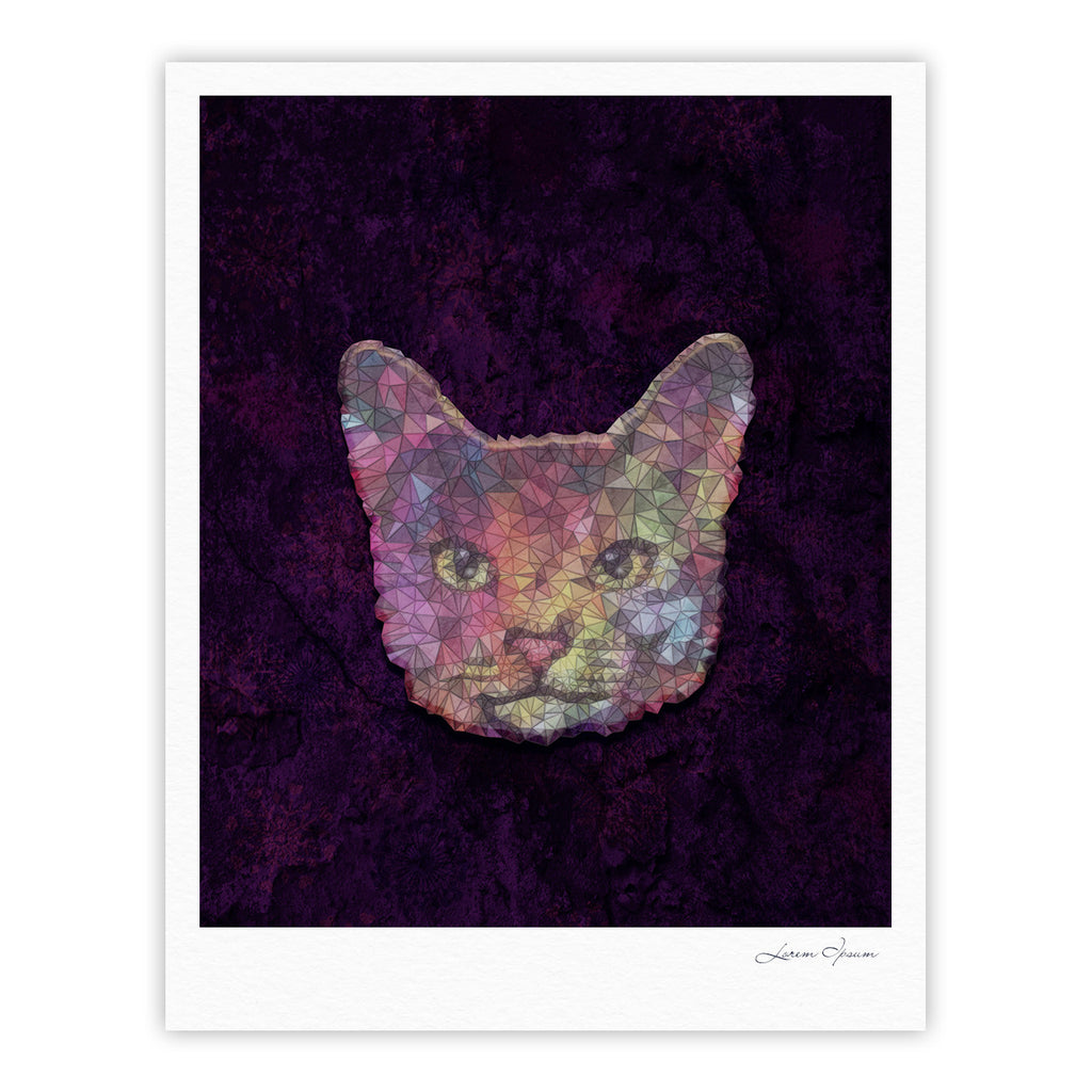 "Ancello ""Rainbow Cat"" Pastel Purple Fine Art Gallery Print - KESS InHouse"