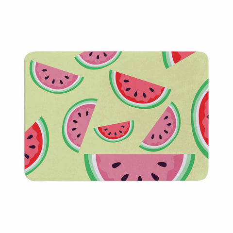 "afe images ""Watermelon Background"" Pink Food Memory Foam Bath Mat - KESS InHouse"