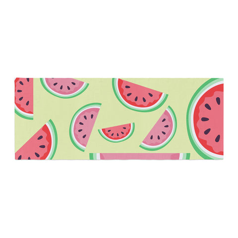 "afe images ""Watermelon Background"" Pink Food Bed Runner - KESS InHouse"