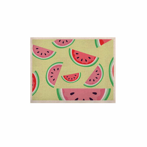 "afe images ""Watermelon Background"" Pink Food KESS Naturals Canvas (Frame not Included) - KESS InHouse  - 1"
