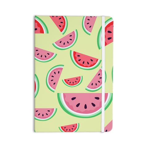 "afe images ""Watermelon Background"" Pink Food Everything Notebook - KESS InHouse  - 1"