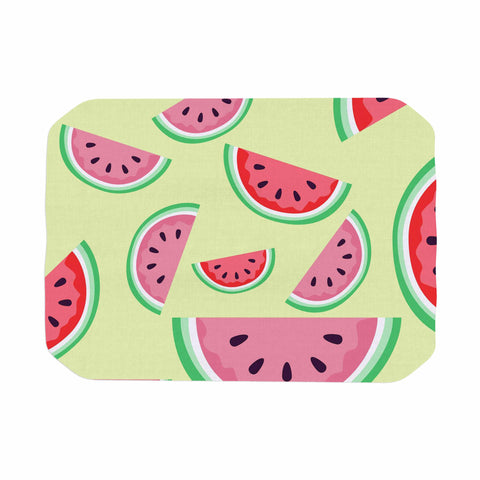 "afe images ""Watermelon Background"" Pink Food Place Mat - KESS InHouse"