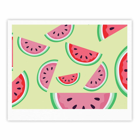 "afe images ""Watermelon Background"" Pink Food Fine Art Gallery Print - KESS InHouse"