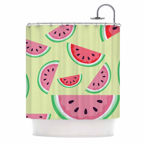 "afe images ""Watermelon Background"" Pink Food Shower Curtain - KESS InHouse"