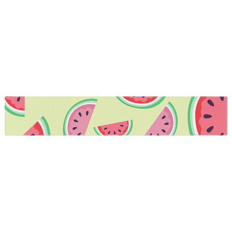 "afe images ""Watermelon Background"" Pink Food Table Runner - KESS InHouse  - 1"