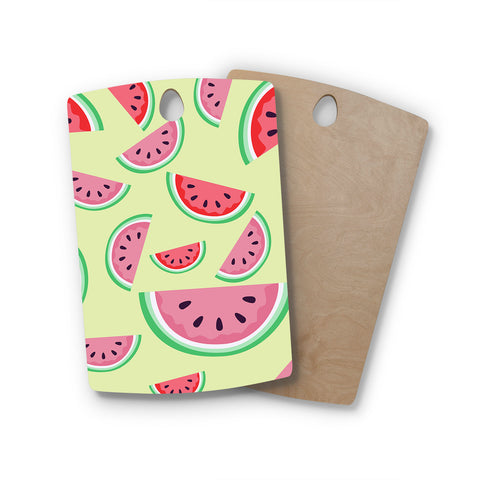 "afe images ""Watermelon Background"" Rectangle Wooden Cutting Board"