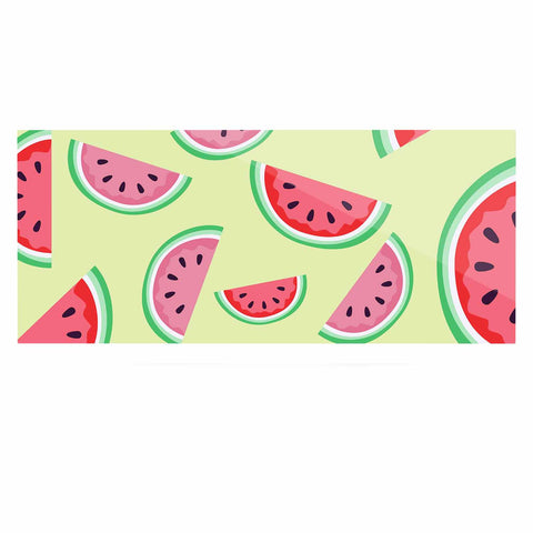 "afe images ""Watermelon Background"" Pink Food Luxe Rectangle Panel - KESS InHouse  - 1"