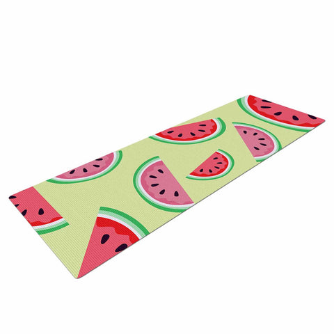 "afe images ""Watermelon Background"" Pink Food Yoga Mat - KESS InHouse  - 1"