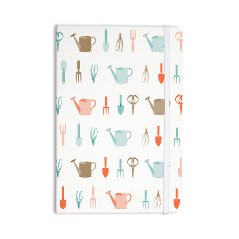"afe images ""Gardening Tools Pattern"" Teal Abstract Everything Notebook - KESS InHouse  - 1"